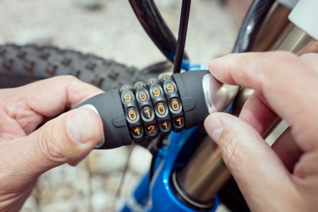 Fahrradschloss mit Zahkenkombination